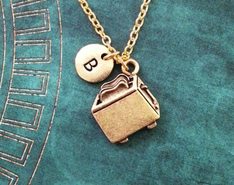 Toaster Necklace VERY SMALL Gold Toaster Gift Toast Necklace Toast Jewelry Personalized Jewelry Chef Gift for Mom Cooking Gift Food Jewelry