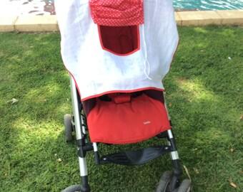 Custom Stroller Sun Cover, Stroller Shade, Buggy Sun Shade
