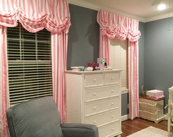 custom Casual Kingston Empire Valance (made with customers own fabric OR mine)