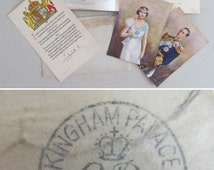 1930s ROYAL MEMORABILIA~Inc personal message from Queen Elizabeth, Queen Mother in original PALACE envelope + Coronation Souvenir Book 1937