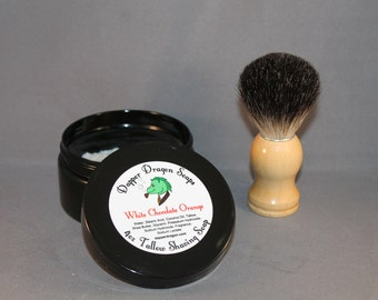 Tallow Shaving Soap - White Chocolate Orange