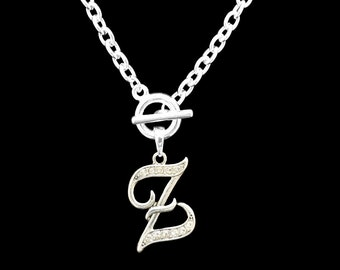 Z Initial Toggle Necklace