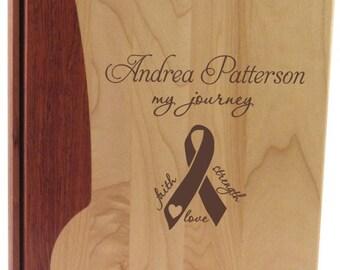Wood Photo Album - Breast Cancer Survivor
