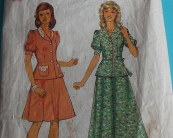 Vintage Sewing Pattern Style 4992 for a Woman's Suit in Size 14