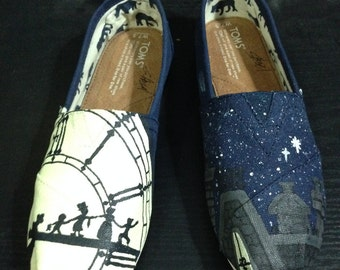 Peter Pan themed Toms shoes