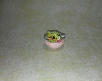 1 12 scale Salad, Miniature Salad,Dollhouse Salad