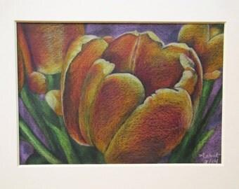 Tulip Bouquet on Purple Ground