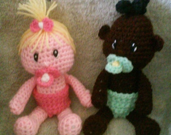 Crochet Baby Doll Amigurumi Pattern Only