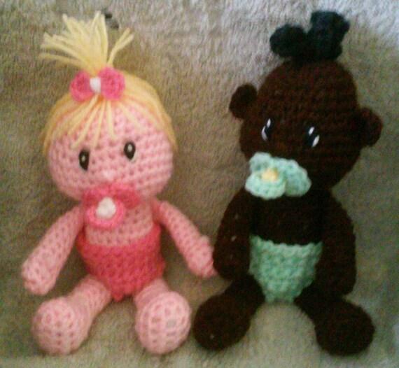 Crochet Pattern Baby Doll : Crochet Baby Doll Amigurumi Pattern Only