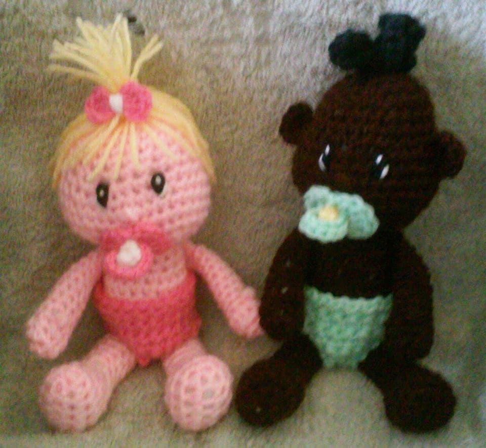 Amigurumi Crochet Patterns Baby : Crochet Baby Doll Amigurumi Pattern Only