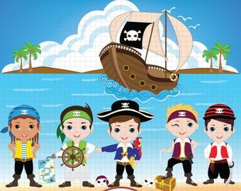 Pirate Clipart, Pirate Clip Art, Pirate Digital Clipart, Pirate Boy Clipart, Pirate party Clipart, Pirate birthday