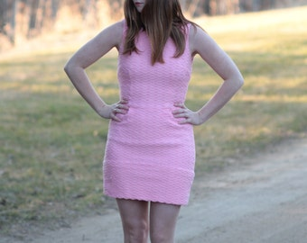 Pink 1960s Mod Mini-Dress
