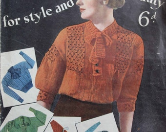 1930's Bestway Jumpers for Style and Beauty PDF - Vintage Knitting Pattern  - 1930's Jumper - Sweater - Cardigan