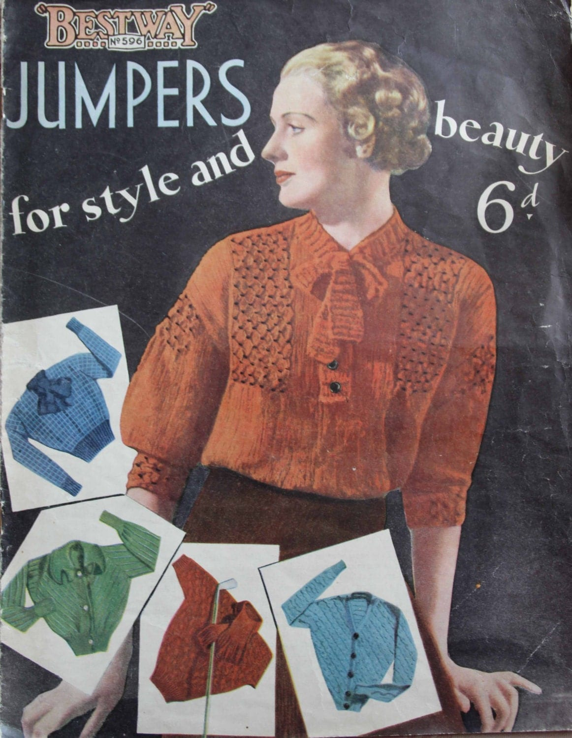 1930 39 S Bestway Jumpers For Style And Beauty Pdf Vintage Knitting Pattern 1930 39 S Jumper