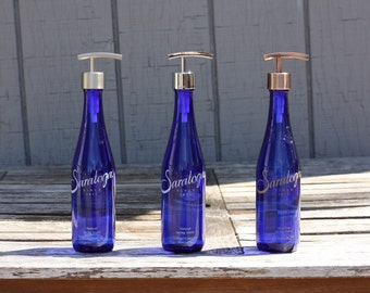 Cobalt Blue Saratoga Soap Dispenser with Metal Pump