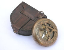 """3"""" push button sundial compass, engraved compass, personalized gift, functional compass, retirement day gift, graduation day gift,"""