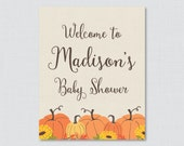 Pumpkin Baby Shower Welco...