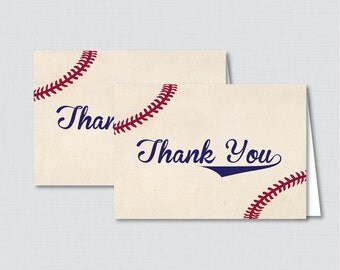 Printable Baseball Thank You Card - Printable Instant Download - Baseball Baby Shower Thank You Card, Baseball Thank You Card - 0027