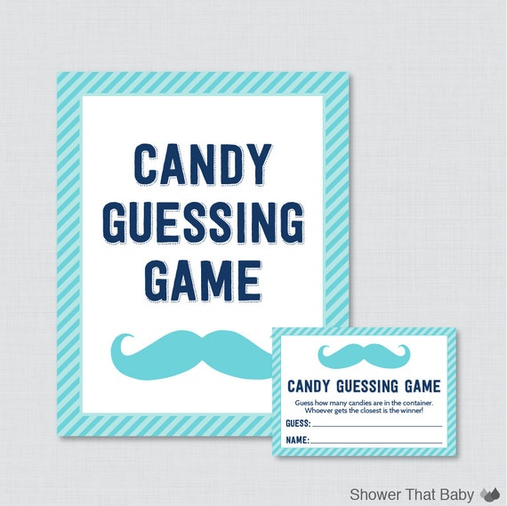 mustache baby shower candy guessing game printable guess how many