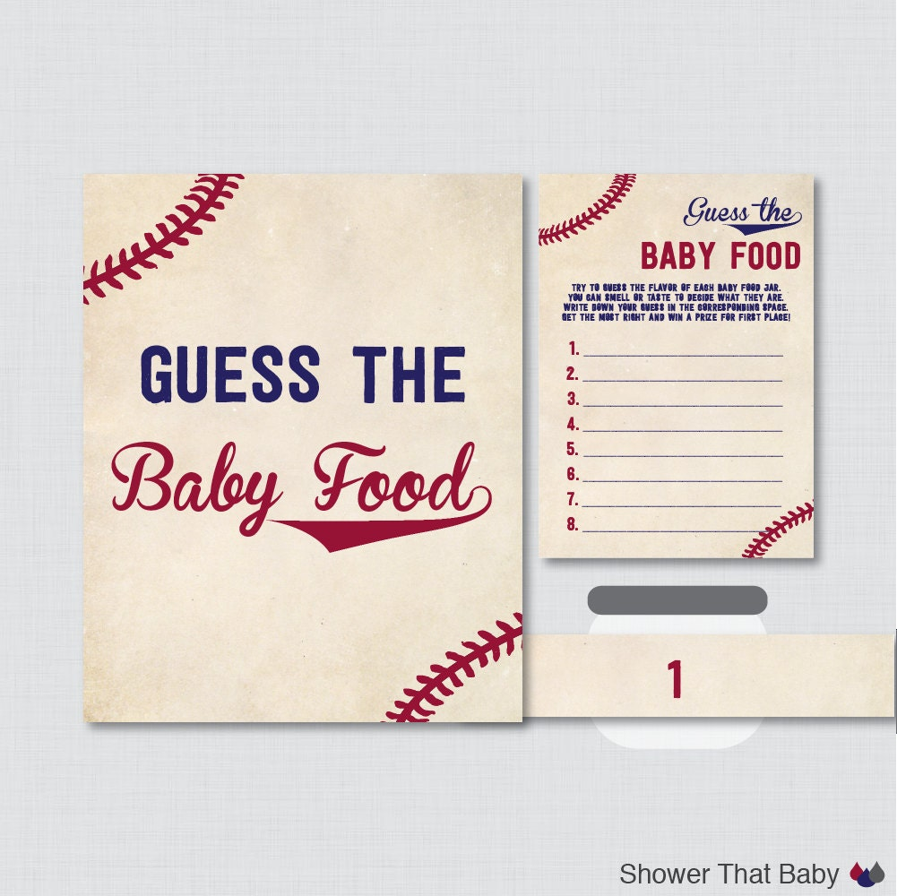 baseball baby shower game guess the baby food activity