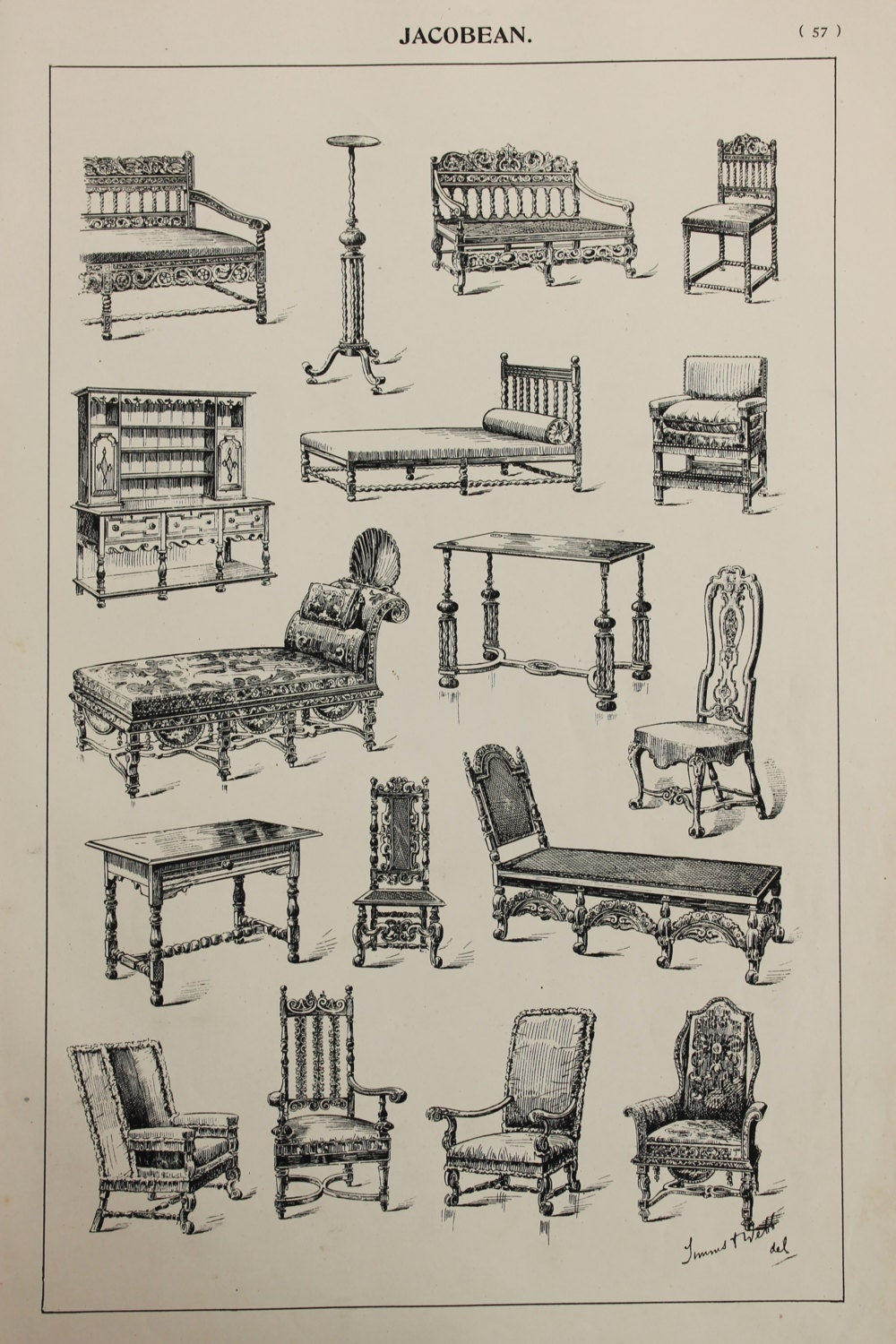 English jacobean furniture designs large antique by for English chair design