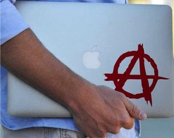 ANARCHY! Vinyl Decal Sticker - Rock & Roll - Macbook Decal, Car Decal, iPad Decal, iPhone Decal, Anarchist, Anarchy, Revolt