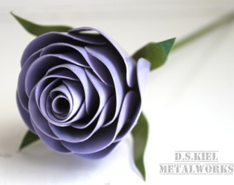 Stylized Metal Rose, Eleventh Anniversary, 11th Anniversary, 6th Anniversary, 4th Anniversary, Mother's Day, Metal Flower, Steel Rose