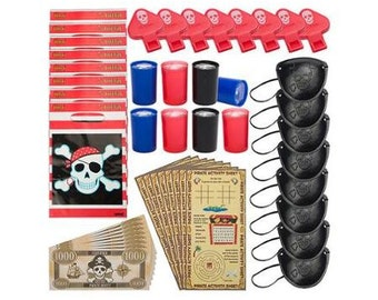 Pirate Party Favor Pack (For 8 Guests)