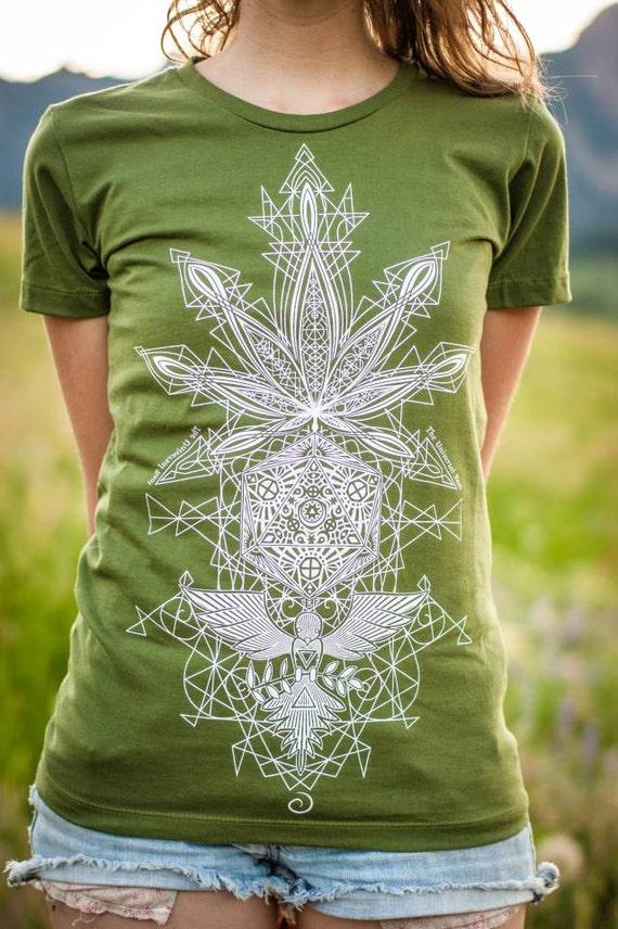 Cannabis T-Shirt—Organic USA Made, Weed T-Shirt, Marijuana T-Shirt, Marijuana Clothing, Weed Clothing, 420 Clothing, 420 T-Shirts, Women's