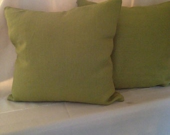 Chartreuse Linen Pillow Covers