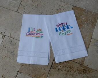 Scripture Linen Tea Towels
