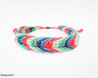 Little mermaid bracelet, Ariel bracelet, Disney film bracelet, little mermaid jewelry, friendship bracelet, macrame bracelet, beach bracelet