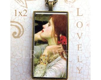 Art Pendant, Boho Jewelry, Pendant with Chain, John Waterhouse Painting, Fine Art Necklace,1x2 Pendant,Artistic Gift, Gift under 20