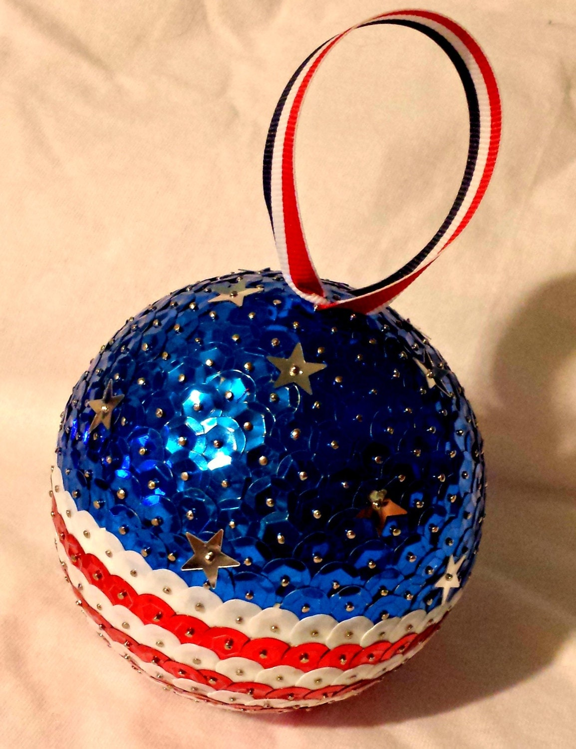 American flag christmas ornament by
