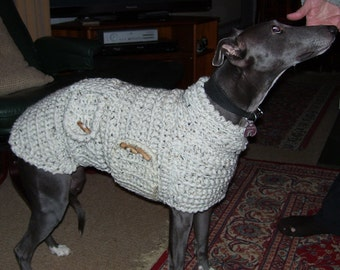 Whippet Sweater Whippet Pullover Whippet Coat Whippet Clothing Whippet Jumper Dog Clothes Crochet Dog Sweater Dog Jumper