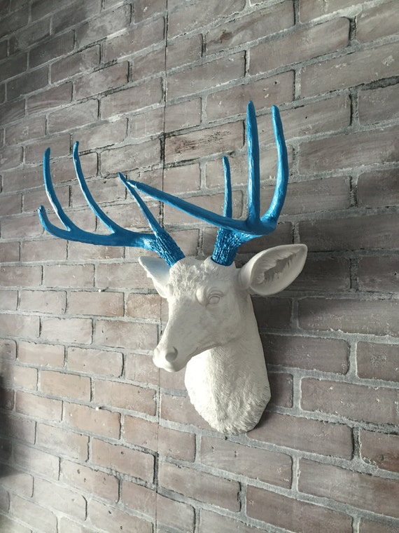 Any Color Or White Faux Deer Head Wall Mount Deer Antlers