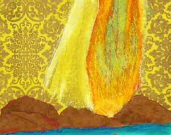 The Waters Edge.  Christian Art PRINT