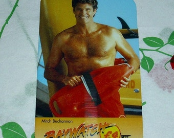Rare Baywatch Phone Card Mitch Buchannon TV Memorabilia David Hasselhoff American Television Show Lifeguard Los Angeles Malibu Beach LA Usa