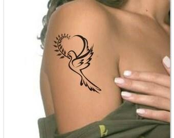 Temporary Tattoo Waterproof Dove Ultra Thin Realistic Fake Tattoos