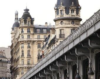 Paris photography, Paris architecture, Bir Hakeim, French wall art, Paris decor, home decor, fine art print