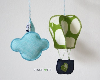 Mobile balloon, small - baby child mobile nursery decoration - little baby crib mobile