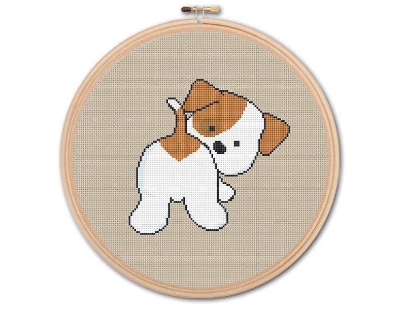 Cute Puppy Counted Cross Stitch Pattern Pdf Cross Stitch