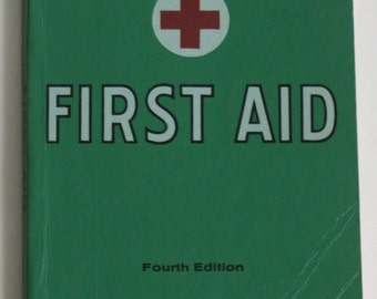 Vintage First Aid Red Cross Book, 1973 Edition, Health Book, Red Cross Book, First Aid Book, Vintage Medical Book