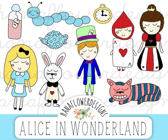 alice in wonderland clock clipart - photo #22