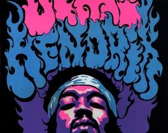 Jimi Hendrix Poster, Pop Art, Singer, Songwriter, Psychedelic, Blues, Rock n' Roll Legend