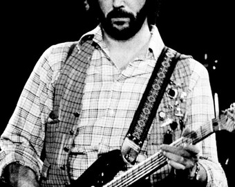Eric Clapton Poster, Playing the Guitar, Live in Concert, Musician, Guitarist, Singer, Songwriter, Rock Music Icon