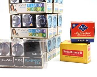 Sylvania Flash Cubes, Kodachrome II & Agfacolor Rapid