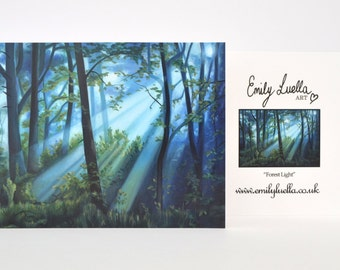 "Fine Art Greeting Card - Forest Light 6"" x 4"""