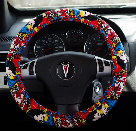 Made From Wonder Woman Girl Power Fabric Padded Steering Wheel