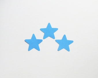 """Pale Blue Star Die Cuts - 1-3"""" Inch Diecuts Choose Your Color/Colors Scrapbooking Weather Night Sky Boy Shower Stationery Craft Cards Cute"""
